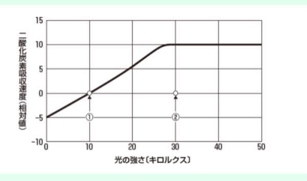 光合成速度って見かけの光合成速度+呼吸速度って書いてたんですけどじゃあこの図の場合光が5キロルクスなら光合成速度はないのでしょうか? すみません。誰か教えてください