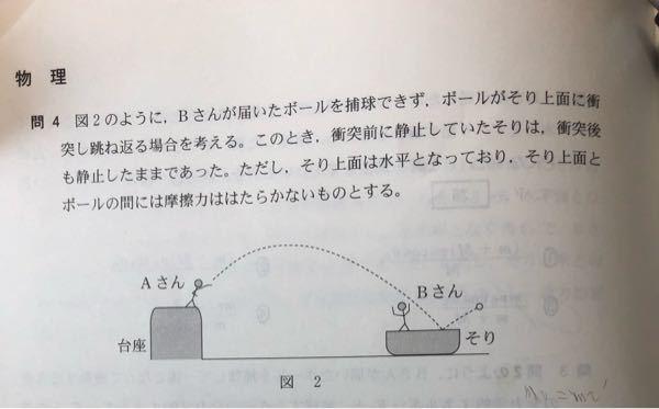 ボールの衝突直前の速度の鉛直成分をv、衝突直後の速度の鉛直成分をv'とすると、運動量保存則よりv=v'となりませんか?