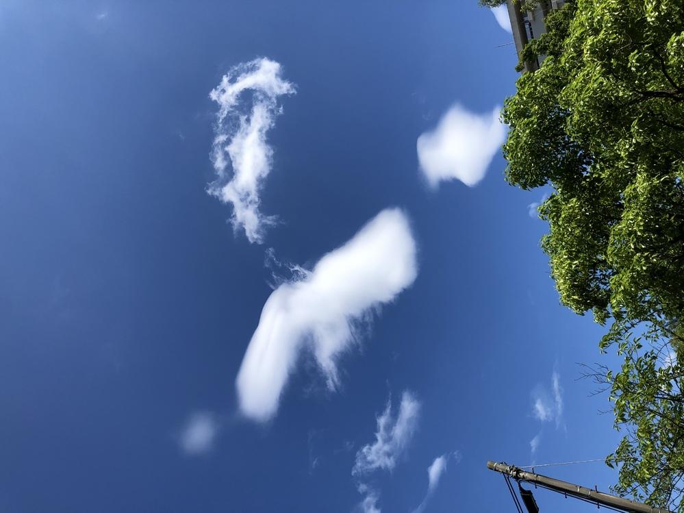 空が好きで良く 写真を撮るのですが 初めての雲の形を見ました ボヤけて見えると言うか モヤがかかって見えると言うか 何か名前とかあるでしょうか??