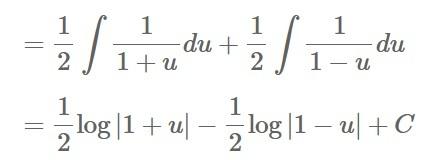 部分分数分解を使っていますが、なぜ、符号が+からーに変わるのでしょうか。+のままだと思いますが。
