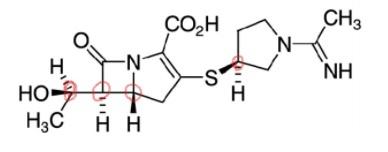 写真の各不斉炭素の絶対配座についてRS表記で教えてください。 赤印を左から1,2,3,4とします。よろしくお願いいたします。 化学