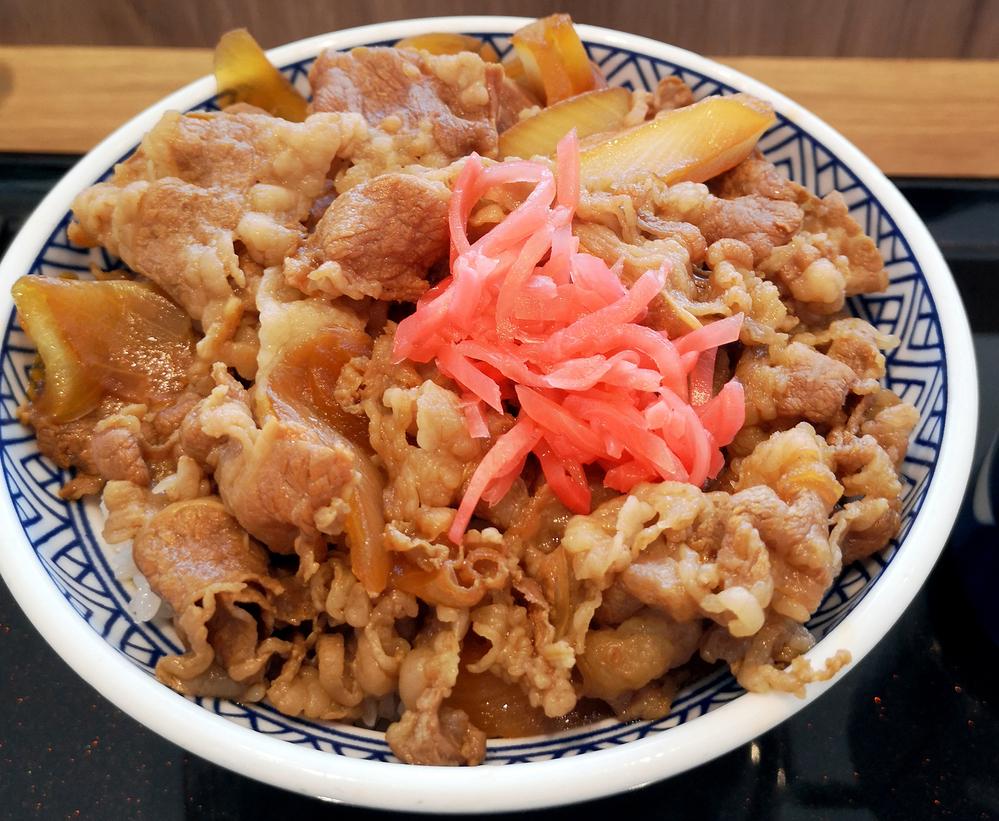 牛丼は好きですか? 今日は吉野家の牛丼大盛りでした。