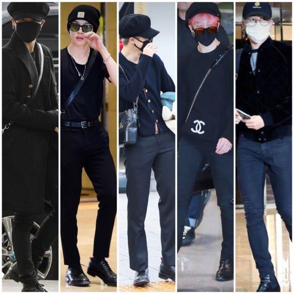 男子大学生です女子に質問です。毎日黒の服の男子って印象わるいですか?BTSジミンさんの服装が好きでこれらの真似をさせていただいてます。