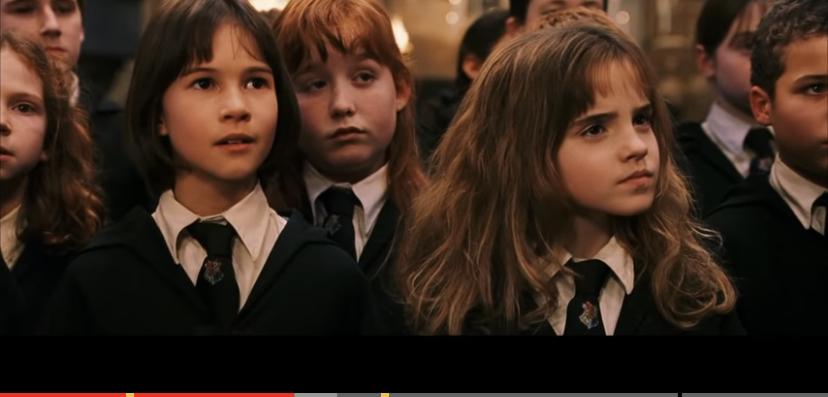 ハーマイオニーの左側にいる女優の名前を知りたいです。誰かお願いします