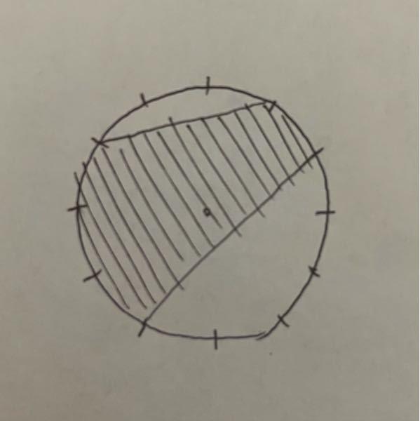 【算数】 フリーハンドで失礼します。 半径6cmの円周上に円周を12等分した点を取り、このように色を塗りました。面積は何cm²ですか。 小学生が出来る方法で教えてください。