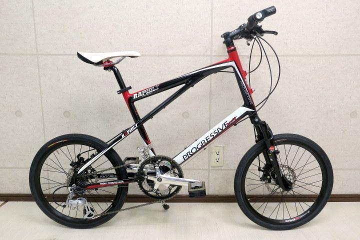 progressive racing RAPIDLY 20インチミニベロ 前後ディスクブレーキ/プログレッシブ レーシング自転車を中古で購入を検討をしております。 杉原商店の国産ブランドです。 自転車に詳しい方、他の自転車にしたほうがいいかアドバイスをお願い致します。