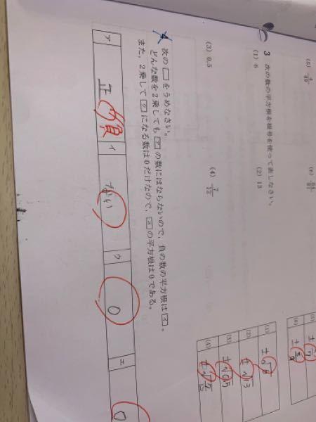 これって負の数の平方根はどうあがいても正の数にはならないって言う意味で書いたんですけど○になるんですか?