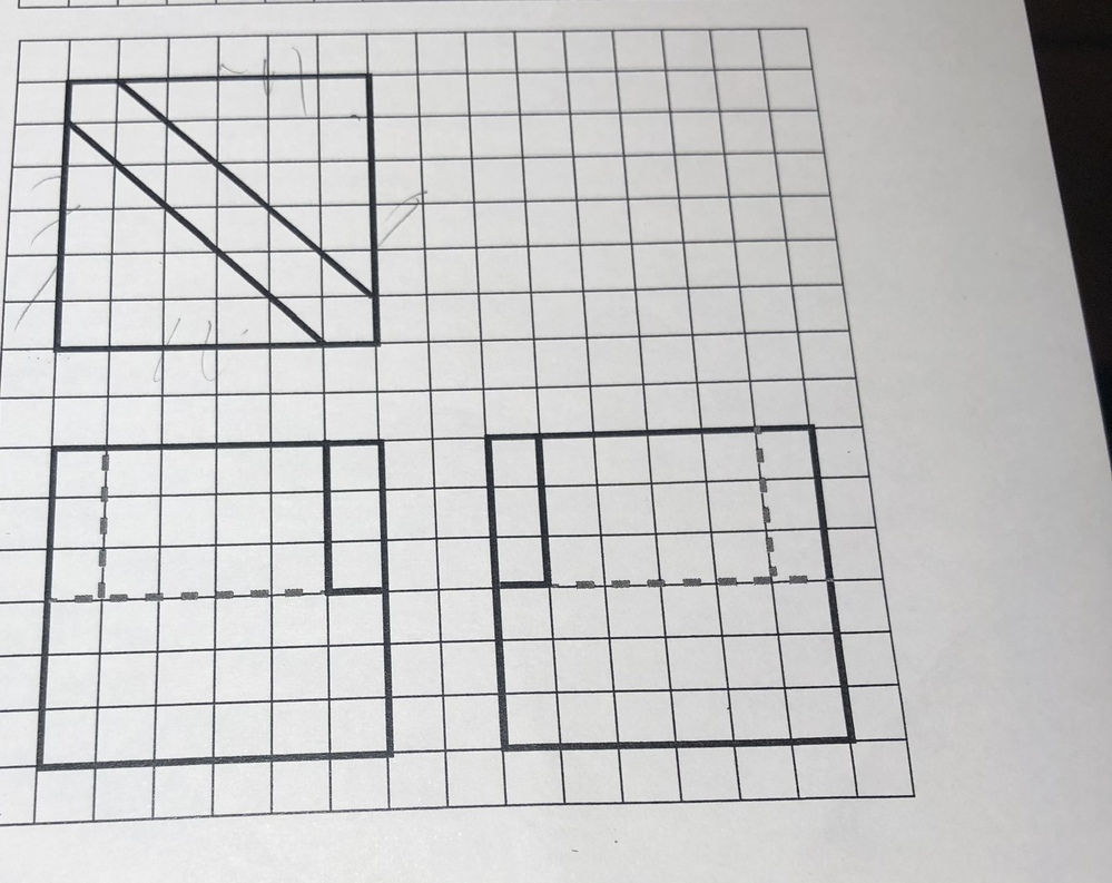 こちらの3面図を等測図に治したいのですがこんがらがってよく分かりません。正解を教えて欲しいです