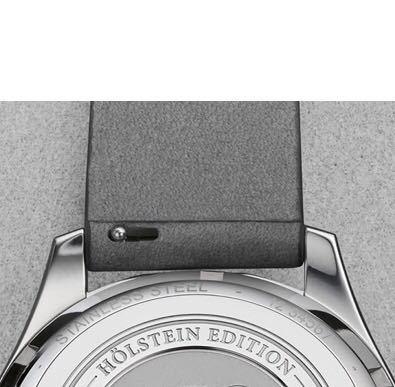 ORISの時計のベルト、こんなの初めてみたんですけど最近は主流になってきてるんですか? このタイプだと普通のベルトは付けられませんよね?