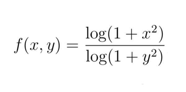 この2変数関数をx, yそれぞれについて偏微分する方法が分からないので教えてください