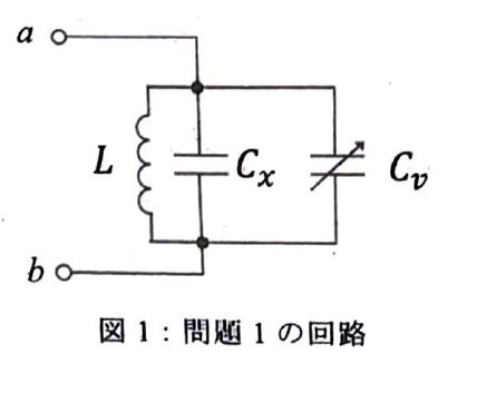 画像の回路において共振周波数を求めたいのですが、インピーダンスZabを求めて虚部=0を解こうとするとωL=0となり共振周波数が求まりません... 可変キャパシタンスの扱い方もよくわかっていないのですが、どのように計算すればいいのでしょうか