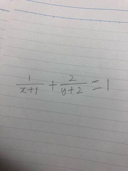 この式をy=の形にするやり方を教えてください