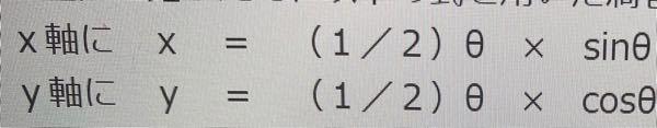 Excelについてです。 画像の式で渦巻き状のグラフを作りたいんですけどやり方がわかりません。最初からわからない状態です。 (sin(x)の値は分かっています。) これがないとできないっていうのありますか?