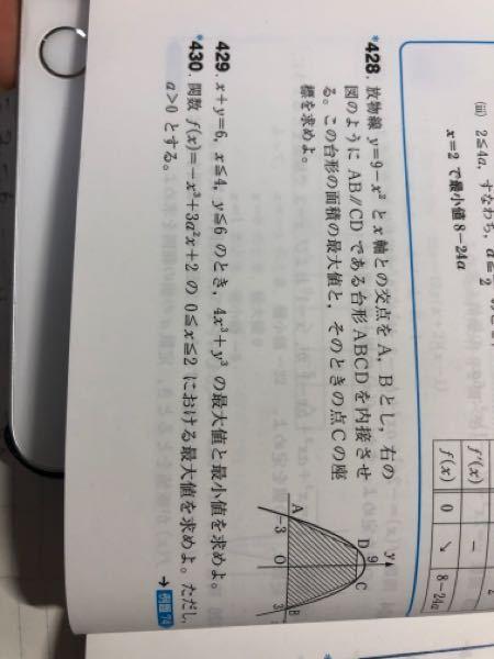 大問430の数学IIの微分の最大値の場合分けの問題です。この問題でa=2の場合も考えたのですが回答にはa=2の場合分けが書かれていませんでした。a=2も場合分けしたらバツになりますか?