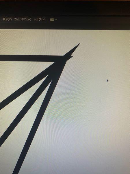 Illustratorで質問です、 この飛び出してる部分を綺麗にしようと思ったらどうしたら良いですか?