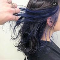 このインナーカラーにするには何回ブリーチしないといけないでしょうか? 青は何日ほどで色落ちしますか? 色落ち後はどのような色になりますか?  よろしくお願いします