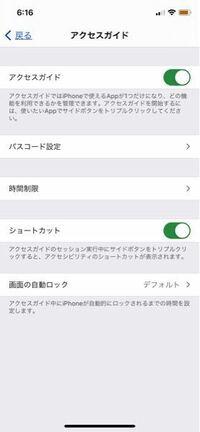 アクセスガイドについて 以前は使用できていたのですが、突然アクセスガイドが使えなくなりました iPhoneXです どうしたら使えるようになりますか?