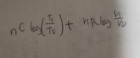 nモルの理想気体が(T0.V0)から(T1.V1)に準静的に変化する時の全体のエントロピーを求める問題で、画像まではいったのですが画像の計算方法がわかりません どうだし合わせるんでしようか?