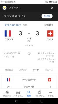 フランス vs スイス 試合の感想を教えてください EURO 2020