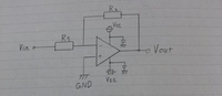 画像の増幅回路の入力インピーダンスの求め方が分かりません。 解き方を教えて下さい。