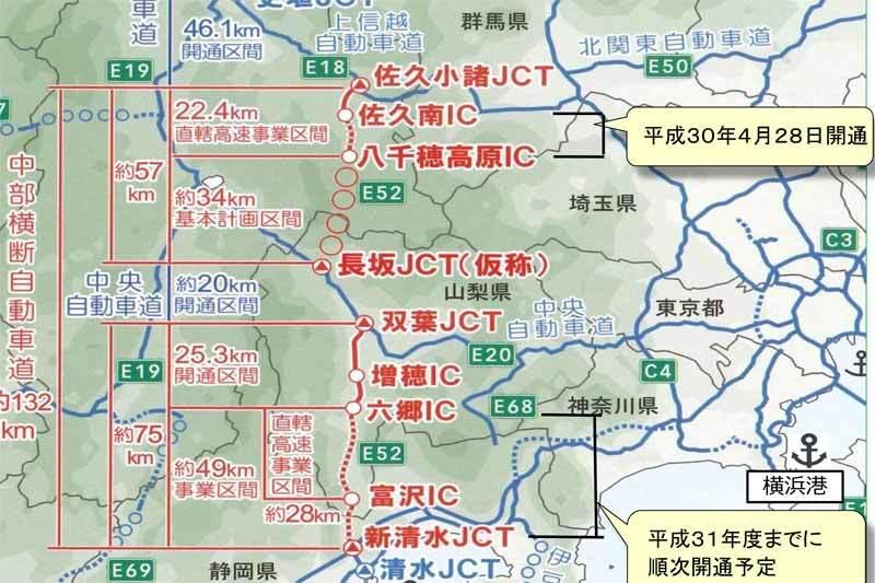 中部横断自動車道は今年中に南部IC~下部温泉早川IC間が開通し新清水JCT~双葉JCT間が全通しますが、八千穂高原IC~長坂JCT間の開通は依然として未だ先なのですか?