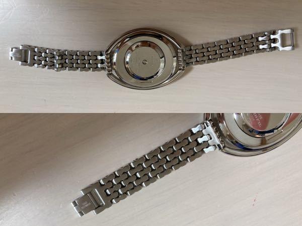 困っています。 スワロフスキーの腕時計について教えて下さい。 本日スワロフスキーで腕時計を購入しましたが、 帰宅後に付けようとしたところ、 留め具?の箇所に引っけるところが 見つからない為、 装着することが出来ずにいます。 付け方の説明書もないのでイライラしてます。
