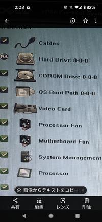 パソコントラブルについて ハードディスクの前にある NA とは何の略ですか?