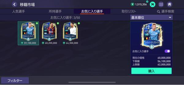 FIFAモバイル この3体の中だったら誰が一番強いですか? 理由もお願いします