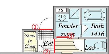 ドラム式洗濯機の搬入や扉の向きに関して質問させてください。 添付写真の間取りに下記のモデルのドラム式洗濯機を搬入したいと考えております。 採寸上搬入可能なのではと考えておりますが 色々とギリギリサイズかとも思いまして・・・ 何か不可能な点ございましたら、ご教授頂きたく存じます。 洗濯機:シャープ ES-W113 外形寸法(幅×奥行×高さ) 640×727×1,115mm ボディ幅596mm(排水ホースを除く場合) ※搬入の際は幅が596mmという認識でおります。 搬入ルートや防水パンの寸法 ①玄関ドア:70㎝ ②玄関通路:71~72㎝ ③洗面所入り口(洗濯機導入箇所):64㎝ 防水パン:縦63×63 もし搬入が可能なようでしたら、右開き・左開きのどちらを採用する方が良さそうでしょうか? お忙しいところ恐れ入りますがご確認の程、宜しくお願い致します。