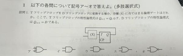 論理回路のFF変換についてです。 T-FFをD-FFへ変換する場合を考えるのですが、これの求め方が分かりません。優しく教えてくださる方、よろしくお願いしますo(_ _*)o 説明の際に、図などを...