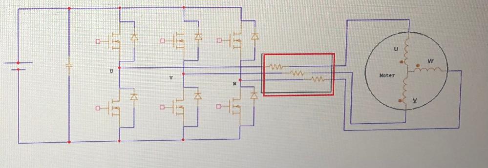 PWM方式についてです。 純抵抗素子の端子間電圧が矩形波であれば、オームの法則から電流波形も電圧波形と同位相で同じ波形になると思うのですが、 ・ 正弦波入力時に、電圧と電流の位相が 異なる点 ・ PWMのときに電圧と電流の波形が大きく異なる点について教えてください。 お願いします。