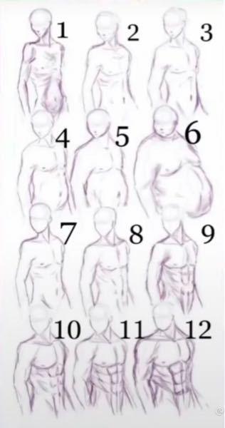 今高校2年生で写真の番号7〜8くらいの体なんですが10になるにはどのくらいの期間かかりますかね?基本的にベンチプレスと腹筋などを2日に一回のペースでやって、毎日プロテイン1〜2杯とゆで卵2個を食べてます。