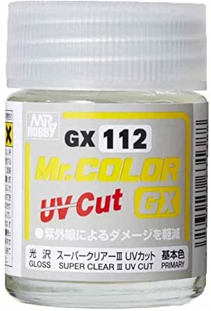 食玩やプラモデルのシールの色褪せ劣化防止に[GSIクレオス Mr.カラーGX スーパークリアー3 UVカット光沢 ]を吹いたら効果ありますか?むしろ溶剤でダメになったりするんでしょうか?