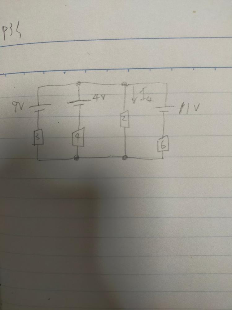 この問題のI4をテブナンの定理を使ってどう求めればいいですか? V0の求め方がわかりません。