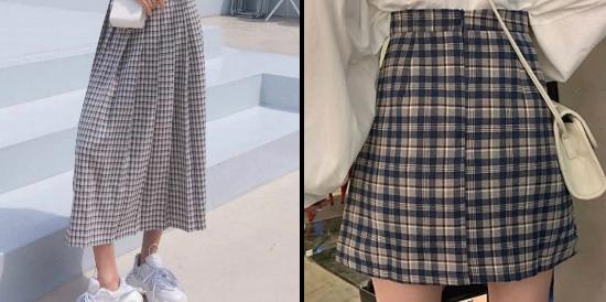このミニスカートとロングスカート、どっちが男子ウケしますかね? 回答は学生の方のみでお願いします。