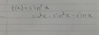 sin5乗xって分けて微分するやり方で合っていますか?