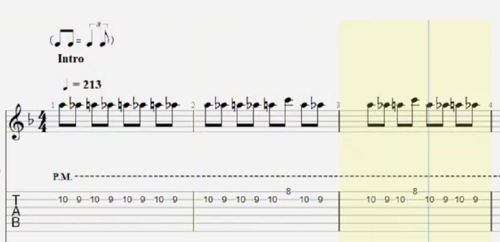 エレキギターの奏法についての質問です。画像の譜面を単音引きする時にどうしても音同士が繋がってしまったり潰れたりしてしまいます。コツなどありますでしょうか? 有識者の方よろしくお願いいたしますm(_ _)m