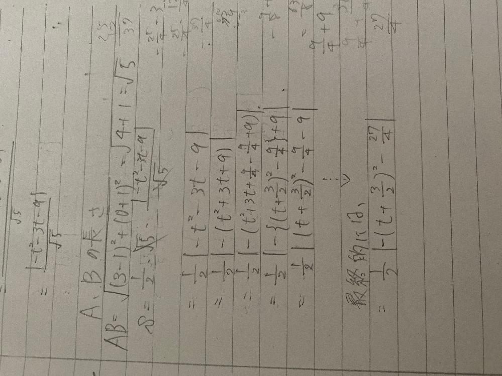 絶対値の中の平方完成がいまいち分かりません。 マイナスのとり方とかも教えて頂けると助かります。