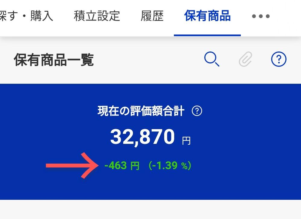 積立NISAを先日始めたのですがこの緑色の数字が数日前からずっと変わりなしです。 どうしてでしょうか?