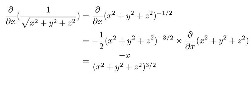 2行目から3行目まででどうすればこのように変形されるのか分かりません。教えて頂きたいです。大学数学の偏微分についてです。