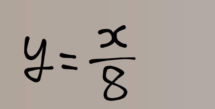 画像の式の一次関数について質問。 画像の式はなぜ一次関数と言うのですか? 一次関数はy=ax+bの形で表されるものじゃないんですか? 割り算になってますが、一次関数と言うのでしょうか? 回答宜しくお願いいたします。 中2数学 一次関数