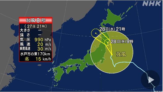 台風8号ってピンポン玉ですか?何に当たったんでしょう。