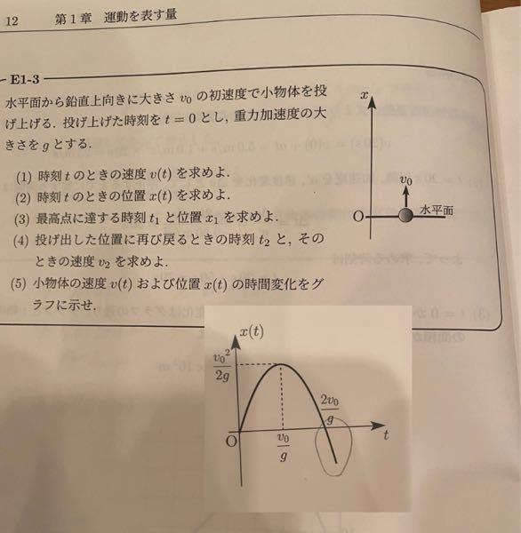 高校物理について力学の質問です。 この問題の(5)のx-tグラフはシャーペンで囲ってある部分は必ず書かなくてはなりませんか?その場合理由も教えてください、