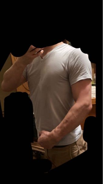 男性ですが、 多少は胸板の筋肉があるように見えますか?