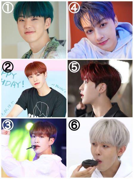 それぞれこの髪色の名前を教えてください! また、もし分かれば純黒髪からこの色にするにはブリーチを何回ほどすれば良いのか、教えてください