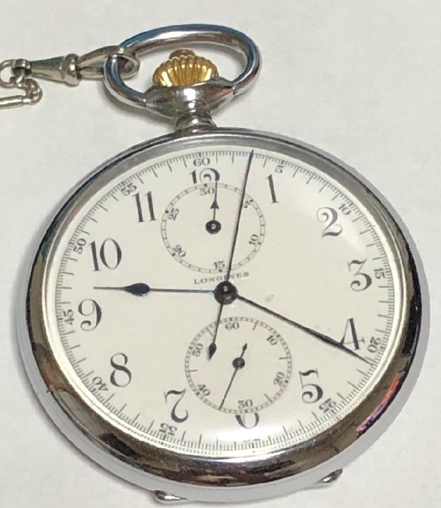 ロンジン懐中時計です。画像時計内上の小さい丸(30分計?)のリセットはできますか?またできるならやり方を教えてください。