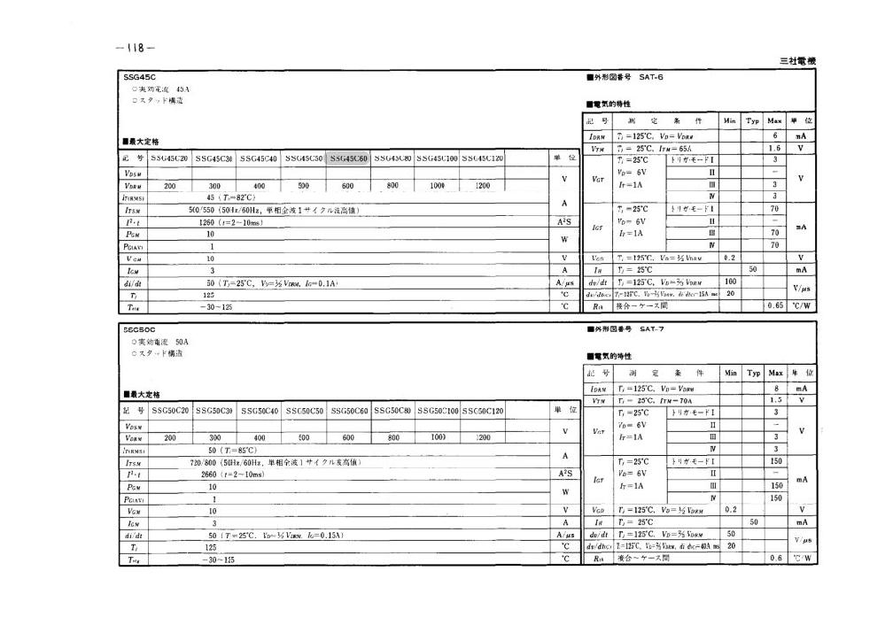教えてください。 今仕事でトライアックが組み込まれてある制御盤を使用しているのですが、メーカーの商品が廃番になりまして互換品を探しております。商品は三社電機:SSG45C60なのですがどこか互換...
