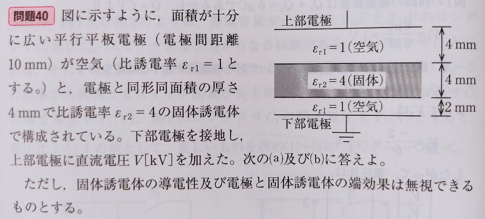 このような時、各電極間の電束密度は等しいのでしょうか? また、それは何故でしょうか?