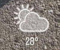インスタのストーリーでみる天気のマークどうすれば出せますか?位置情報ONにしてみてもでないですT_T