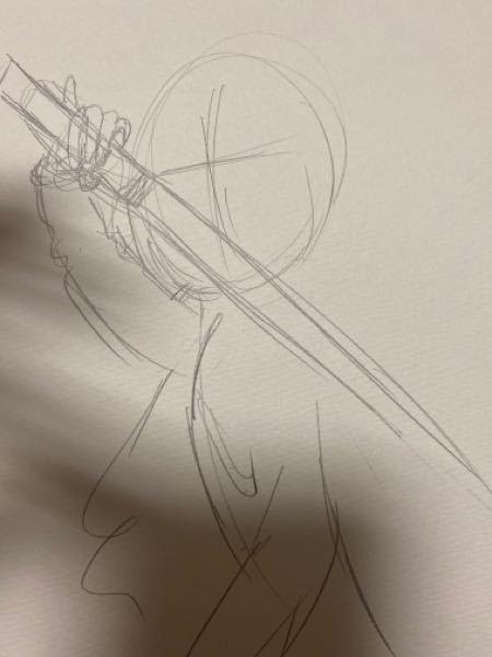 刀の構え方について❕この構え方は違和感ありますか?